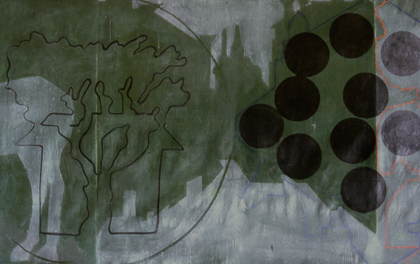 GREEN LANDSCAPES WITH CIRCLES detail 2