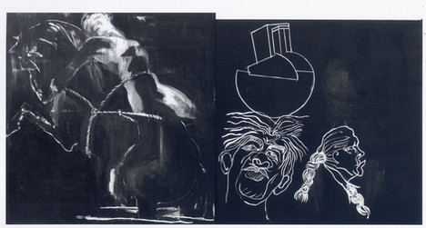 הגג של פינקרפלד 1993  גלריה דבירTamar Ge