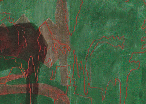 Landscapes with Green Alley Green Donkey and a Corpse  detail 4