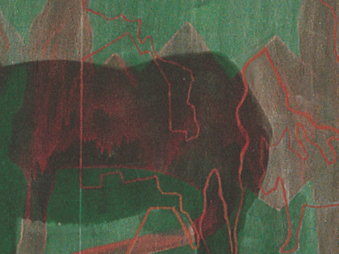 Landscapes with Green Alley Green Donkey and a Corpse  detail 2