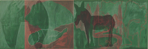 Landscapes with Green Alley Green Donkey and a Corpse 1981
