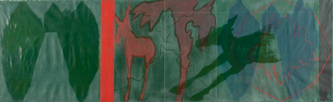 GREEN ALLEY WITH TWO DONKEYS  Tamar Gett