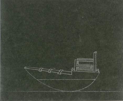Tamar Getter aquatinta repro, 1994 Santa