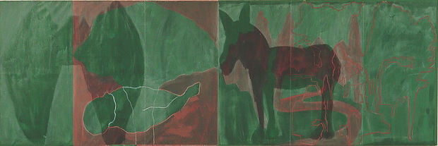 Green Alley Green donkey and corpse full
