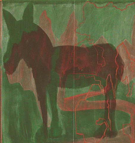 Landscapes with Green Alley Green Donkey and a Corpse  detail 3