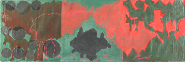 1  RED LANDSCAPES TAMAR GETTER 1981 150
