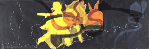 Tamar Getter GATHERED LANDSCAPES 1982 160X480 cm