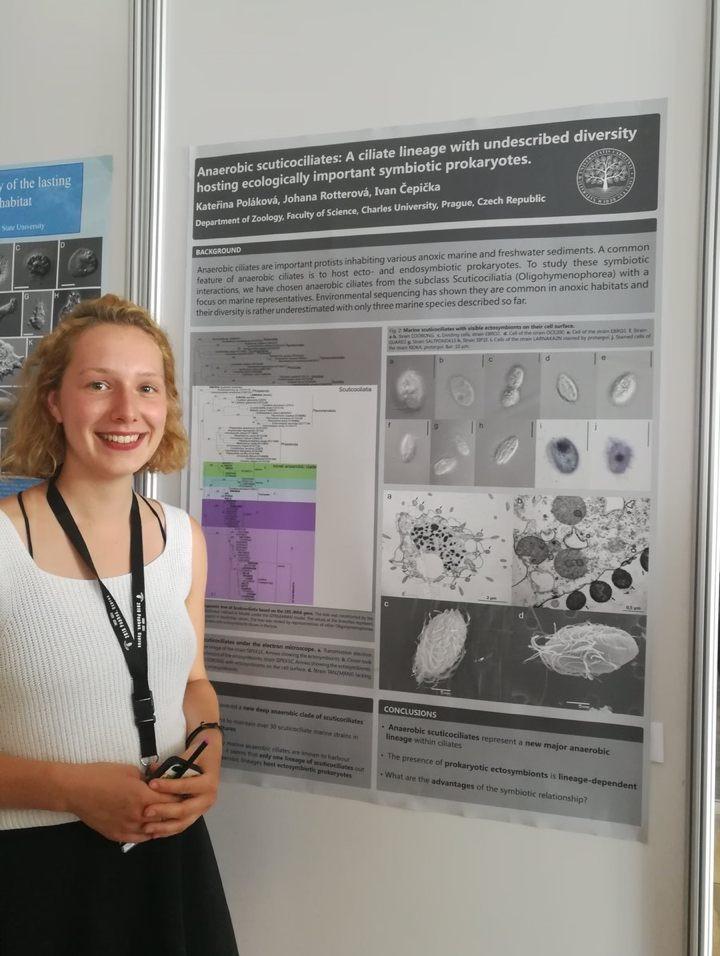 Katerina presenting her poster