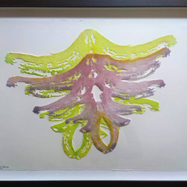 #1006  medium frame with pate de verre work  size 40*50 cm 340 $   Available in Israel only  contact me for details