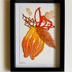 #0016 small frame with pate de verre work  size 21*30 cm   Available at Avny Tal gallery   in Israel only  contact me for details