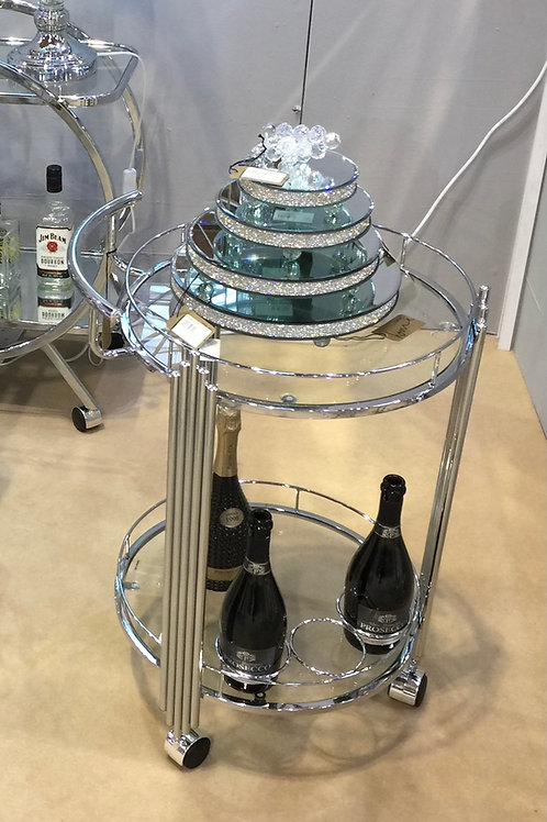 Chic Chrome and Glass Drinks Trolley