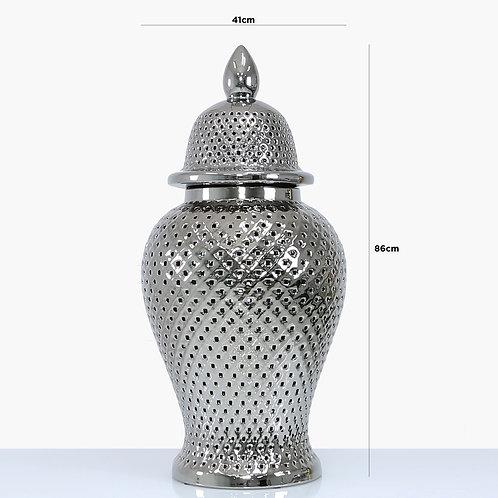86 cm Silver ceramic Ginger Jar