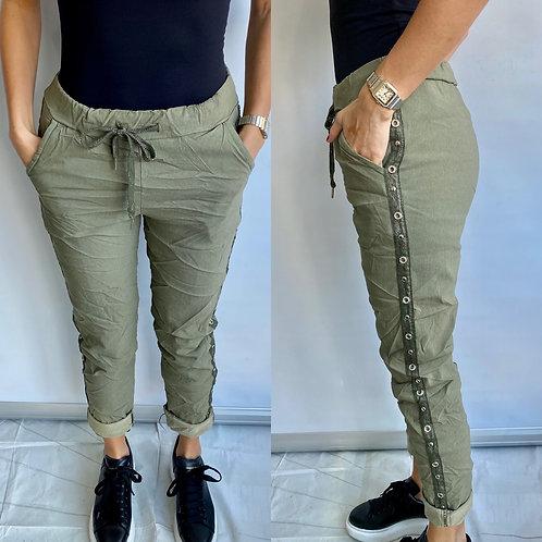 Khaki Bling Magic Trouser