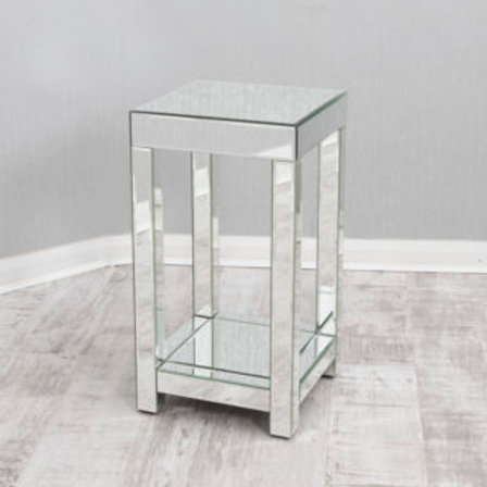 Large Mirrored Lamp Table