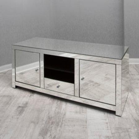 2 Door 1 Drawer Mirrored T V Cabinet / Media Unit