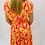 Thumbnail: Orange and Pink Wrap Dress