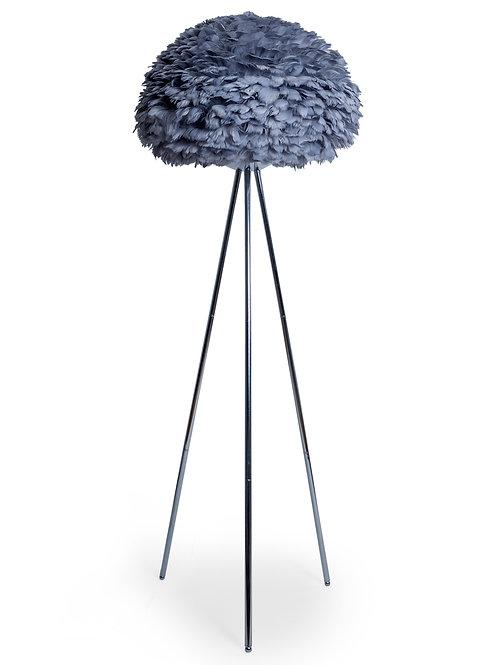 Glamour Feather Grey Tripod Floor Lamp