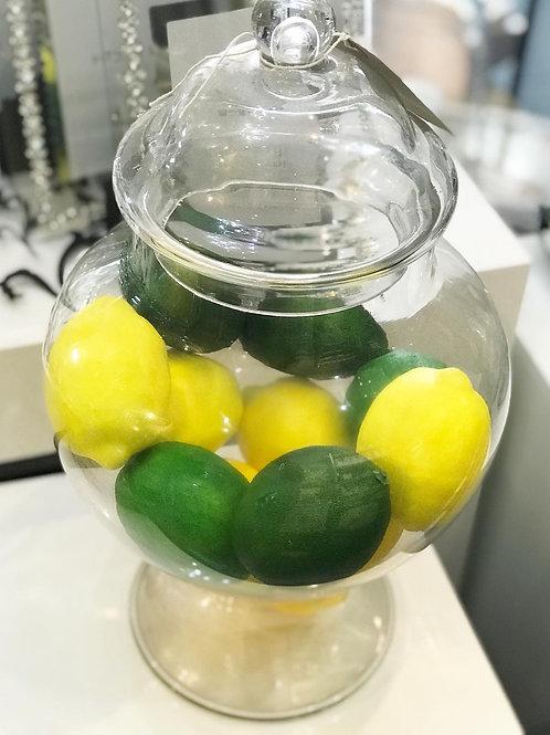 Small Squat Glass Bonbon Jar