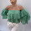 Thumbnail: copy of Off the shoulder Ruffle Top Green