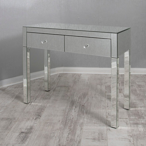 2 Drawer Mirrored Dressing Table / Console Table