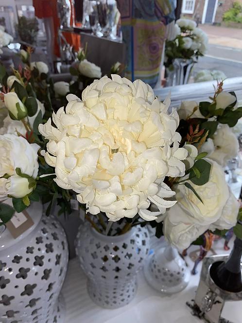 Silk Flower Large Chrysanthemum  - Ivory