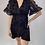 Thumbnail: Black Designer Inspired Wrap Dress