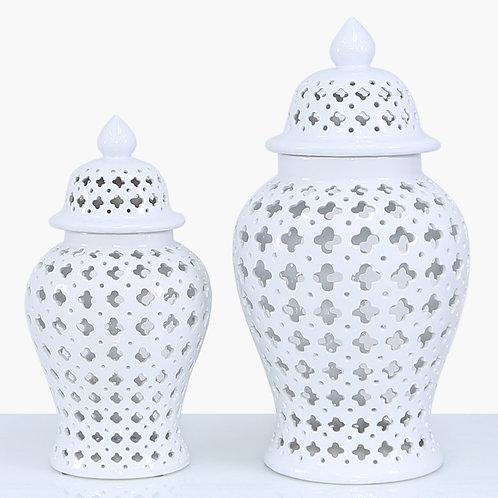 46 cm White ceramic Ginger Jar