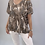 Thumbnail: Beige camouflage print t-shirt one size