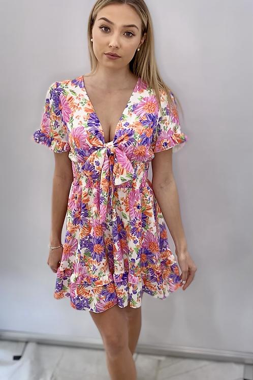 Reversible Tie Summer Dress Pink