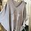 Thumbnail: Oversized V Neck Sequin Star Jumper - Black and Grey