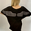 Thumbnail: Diamante Angel Wing oversize T-shirt Black and White
