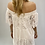 Thumbnail: Off the shoulder white dress