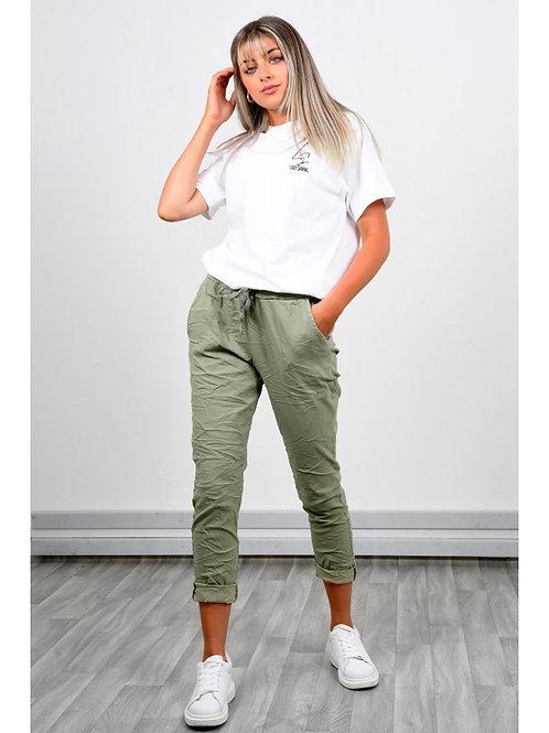 Plain Magic Trousers Pink khaki black Navy beige white