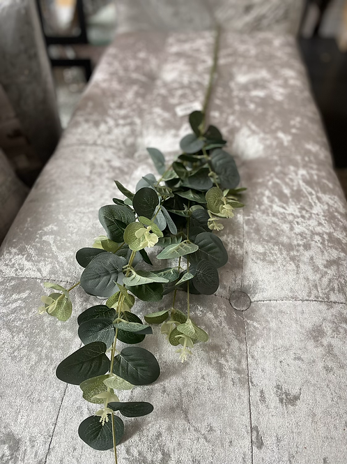 Silk Eucalyptus Spray Natural Green