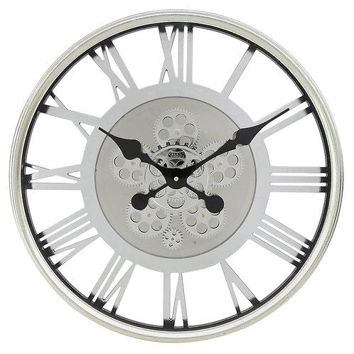 Silver Gears Wall Clock 52.5cm