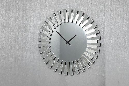 Mirrored Round Clock 80 cm