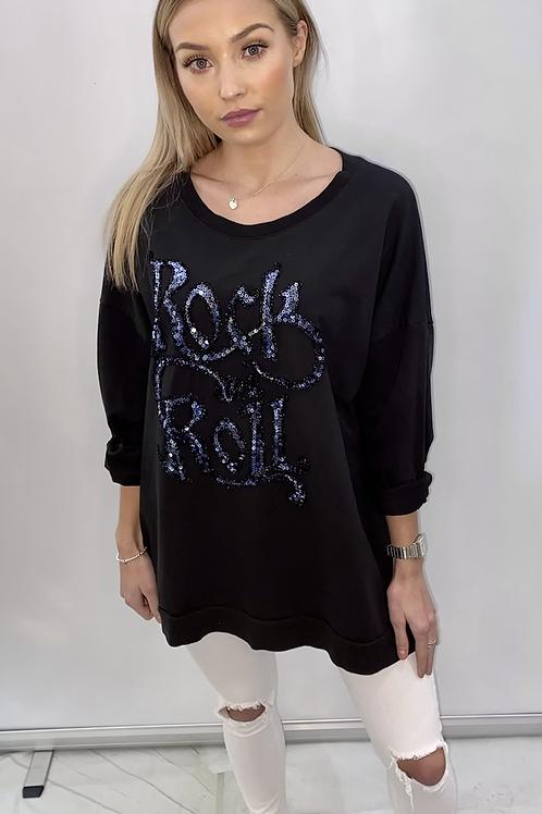 Black Rock & Roll sparkle sweatshirt