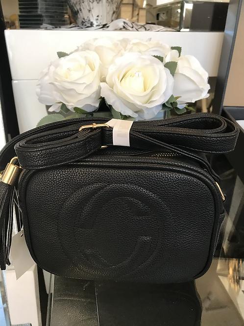 Black designer inspired cross over bag