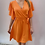 Thumbnail: Orange Wrap Over Style Dress Midi