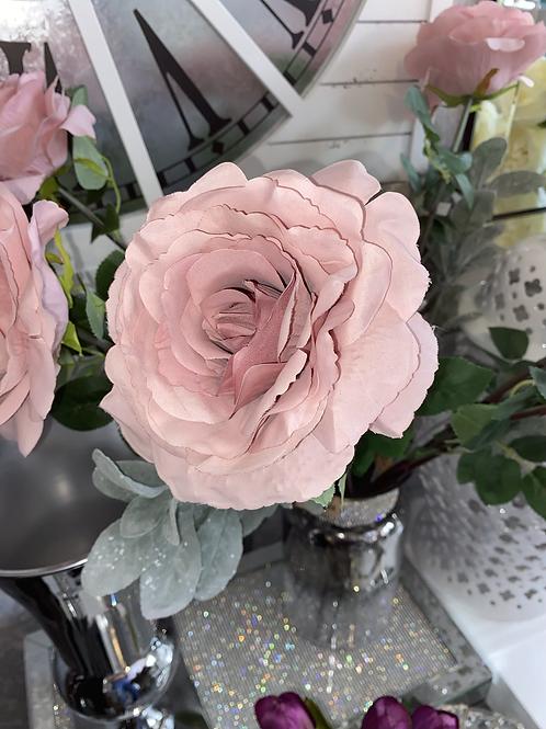Silk pink Rose Stem
