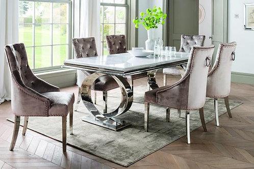 Selene Marble Dining Table - Bone White 2000