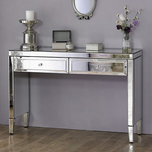 GLAMOROUS MARILYN MIRRORED 2 DRAWER CONSOLE