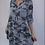 Thumbnail: Blue Sequin Pocket Camouflage print dress
