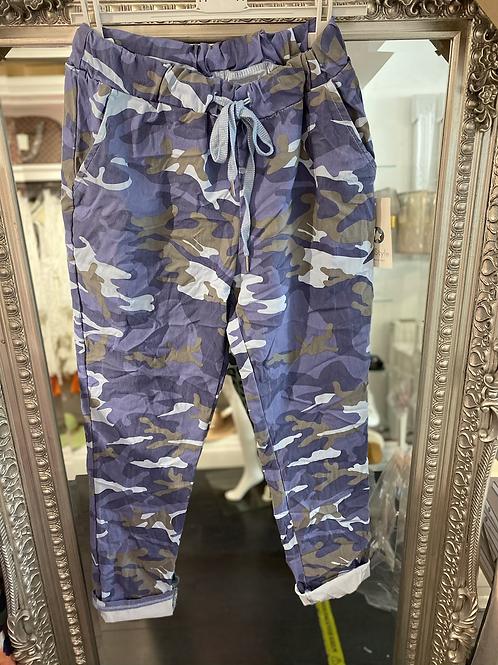 Cargo Magic Trouser - Blue