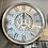 Thumbnail: Silver Gears Wall Clock 52.5cm