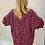 Thumbnail: Cerise Animal Print Smock Dress