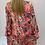 Thumbnail: Pink Palm Print V Neck Maxi Dress