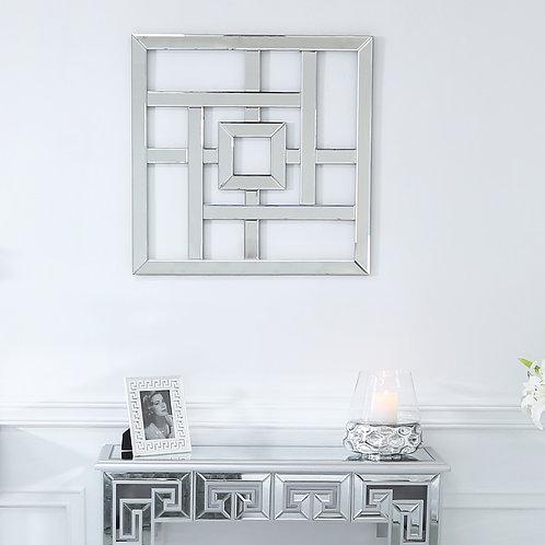 40 cm Geometric Wall Art Mirror V3