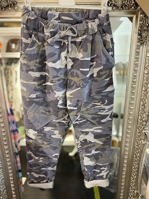 Cargo Magic Trouser -Denim Blue/Grey