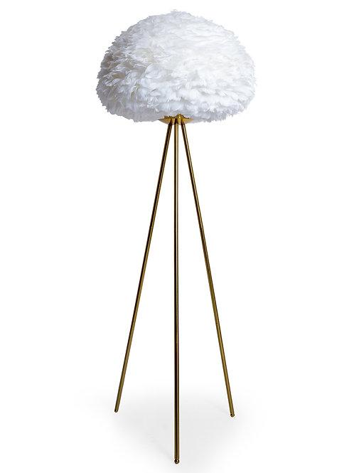 Glamour Feather White Tripod Floor Lamp